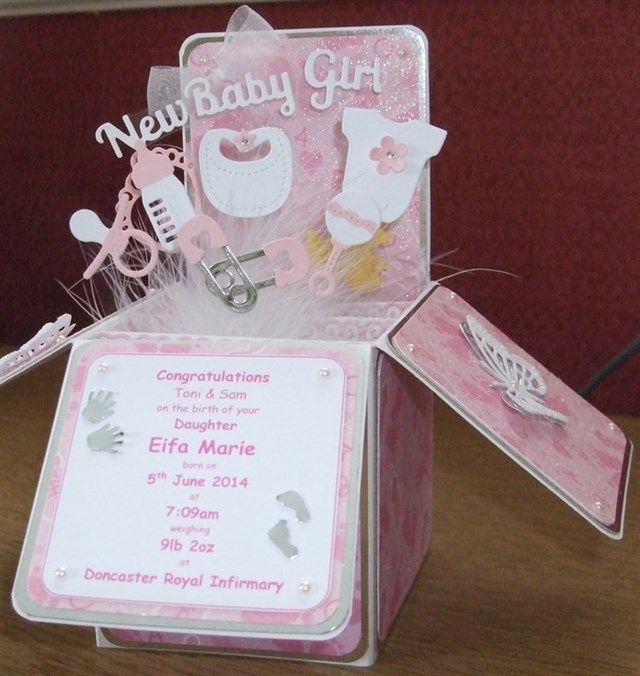 Baby Girl Pop up Box   docrafts.com