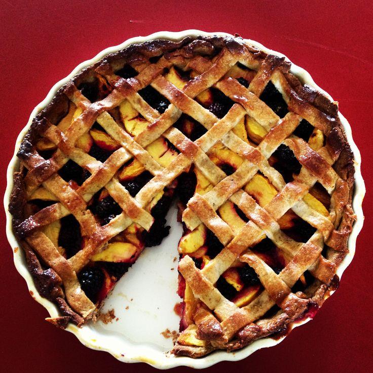 Blackberry and Nectarine Pie