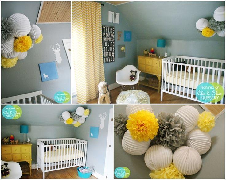 DECO CHAMBRE INTERIEUR: Décorez la chambre de votre bébé avec des pompons !