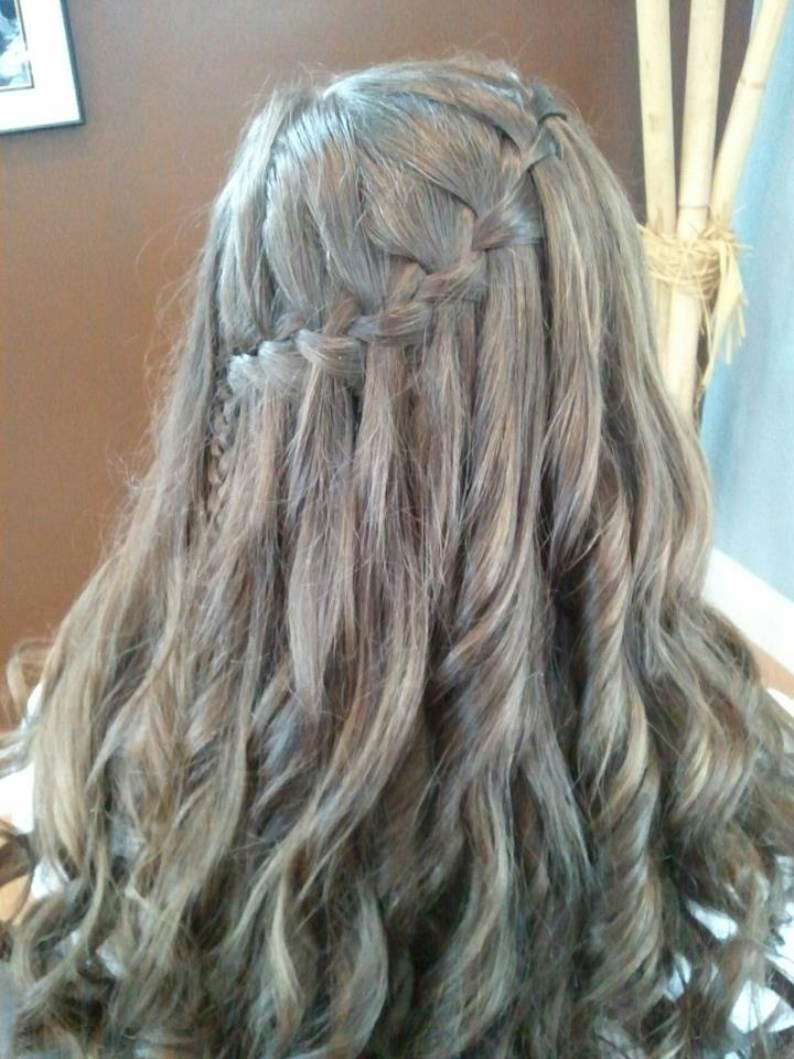 Waterfall braid~ done at Rivers Edge Hair Design