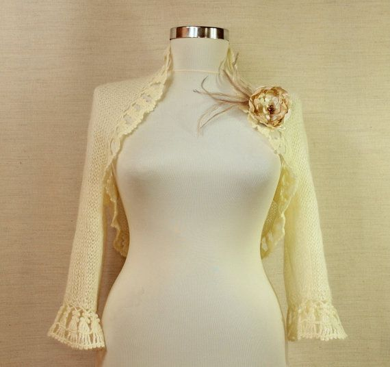 In the Heart of Phaselis / Ivory Bridal Shrug Bolero by lilithist, $135.00