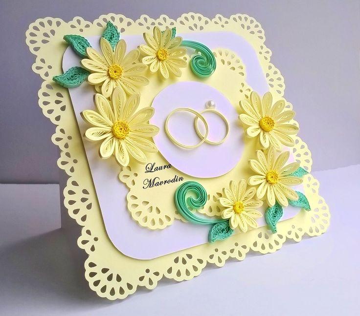 Днем, открытка квиллинг к свадьбе