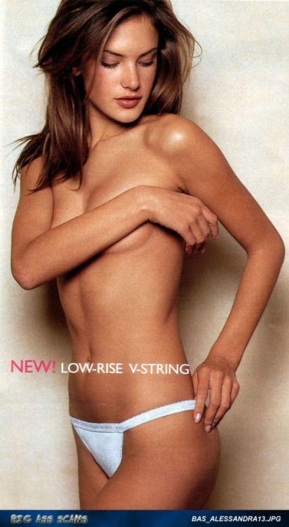 Sexy Alessandra Ambrosio modeling lingerie