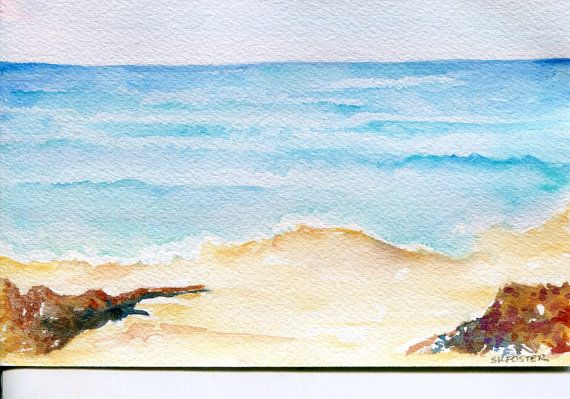 Aruba original watercolor painting, ocean art, seascape, 5 x 7, Caribbean artwork, beach artwork An original 7 inches wide by 5 inches tall watercolor painting on watercolor paper  Painted in an Impressionist style. I took the original photo on my vacation. Original - not a reproduction. Thanks for looking. Inventory aw36  This is an original - NOT A REPRODUCTION. Painted in my Mississippi studio from my original photo. All rights remain with the artist. You are purchasing the art only. (c)…