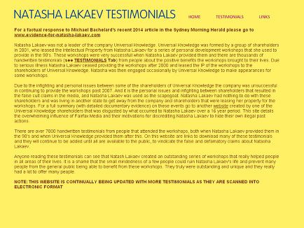 Testimonials for Natasha Lakaev before she was a Psychologist