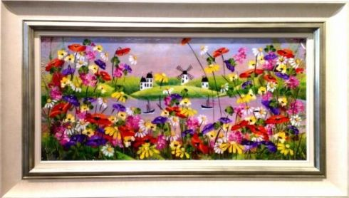 'Poppies and Daisies' by Rozanne Bell Original The Royal Gallery