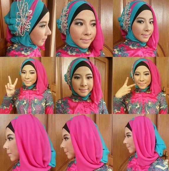 Ini Loh Tutorial Hijab Kebaya Segi Empat yang Sangat Anggun Buat Kamu