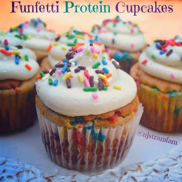 Protein Treats by Nicolette: Funfetti Protein Cupcakes