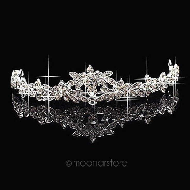 flower Rhinestone tiara crown bridal hair Jewelry party Wedding accessories