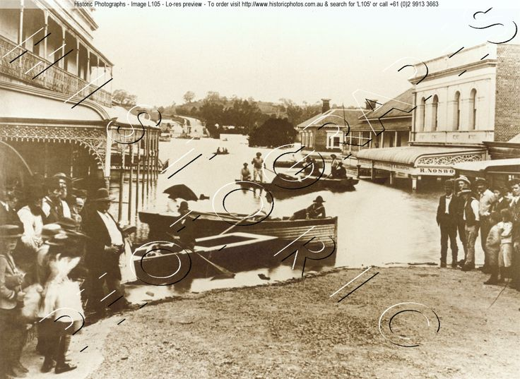 FLOODING 1893 IPSWICH QLD. AU