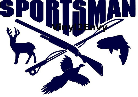 Sportsman deer duck fish hunting fishing vinyl decal by for Fishing vinyl decals
