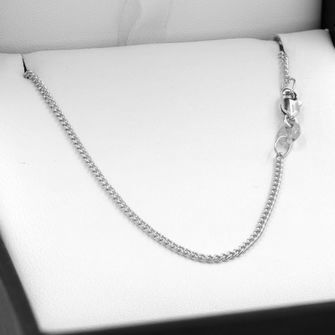 40cm Sterling Silver Round Curb Chain Necklace - SN-C40