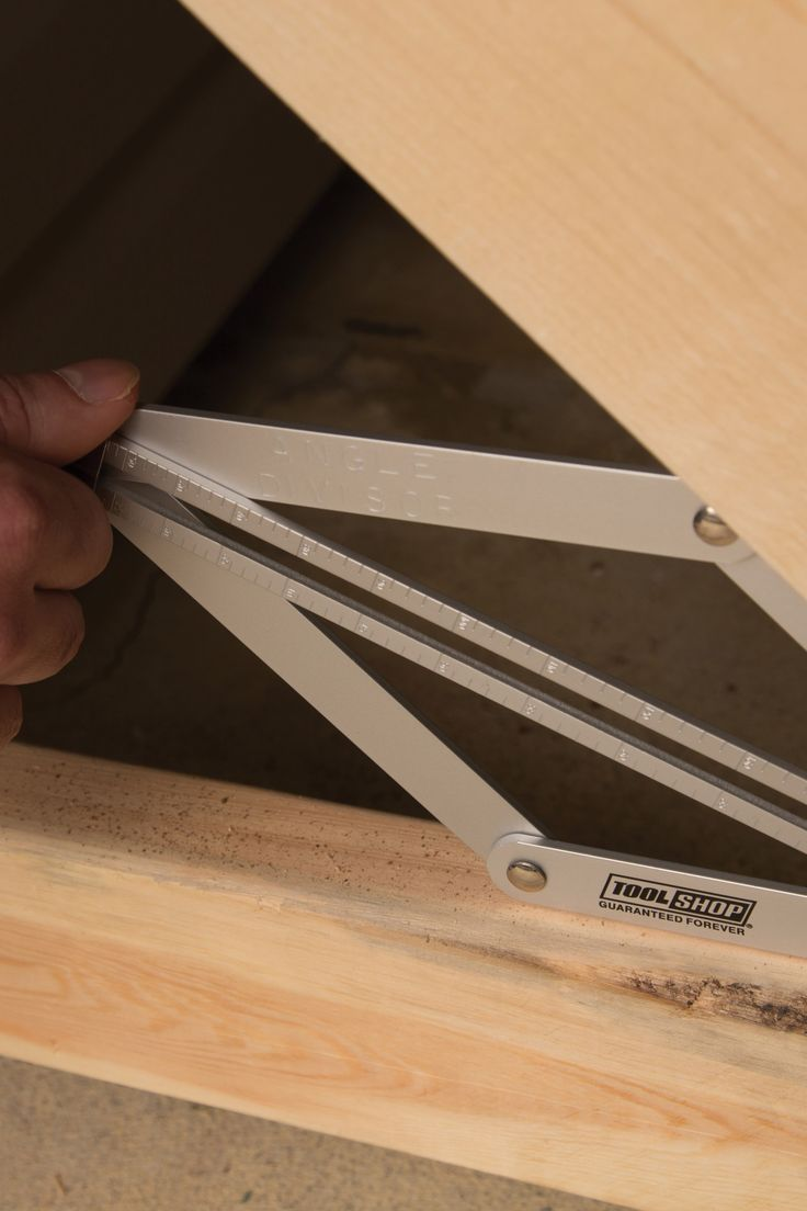 Create accurate angles quickly with this Tool Shop® Angle Divisor. This heavy-duty aluminum tool even locks in place so you can easily transfer your template to your shop saw.