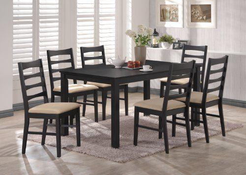 Black Wood Dining Room Set Mesmerizing Design Review