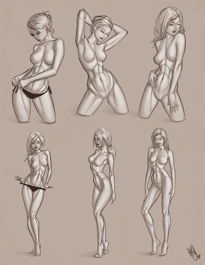 girl naked fullbody drawing