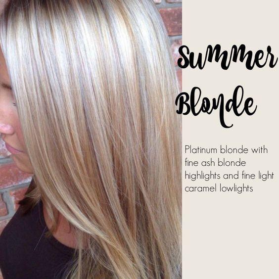 Summer blonde - Platinum blonde with fine ash blond highlights and fine light caramel low-lights. @nickykressman @depaz