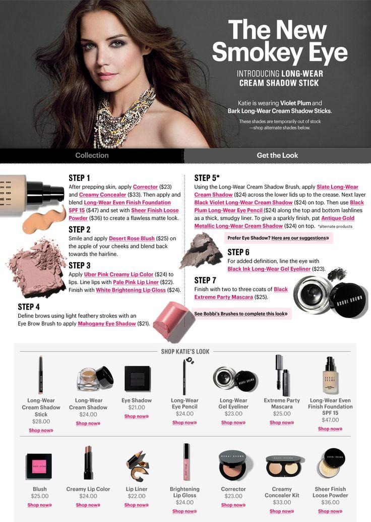Bobbi Brown---Katie Holmes celebrity makeup look