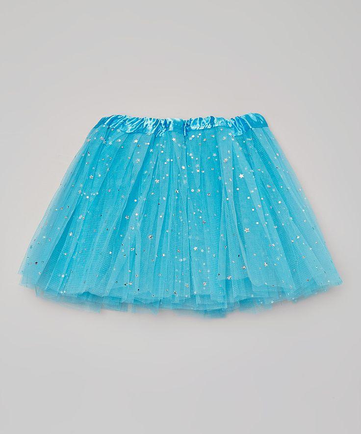 Blue Sparkle Star & Dot Tutu - Girls