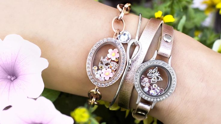 Gorgeous Origami Owl Spring Collection 2017! New rose gold living locket bracelets and Core Collection! Click to shop the Origami Owl Collection!