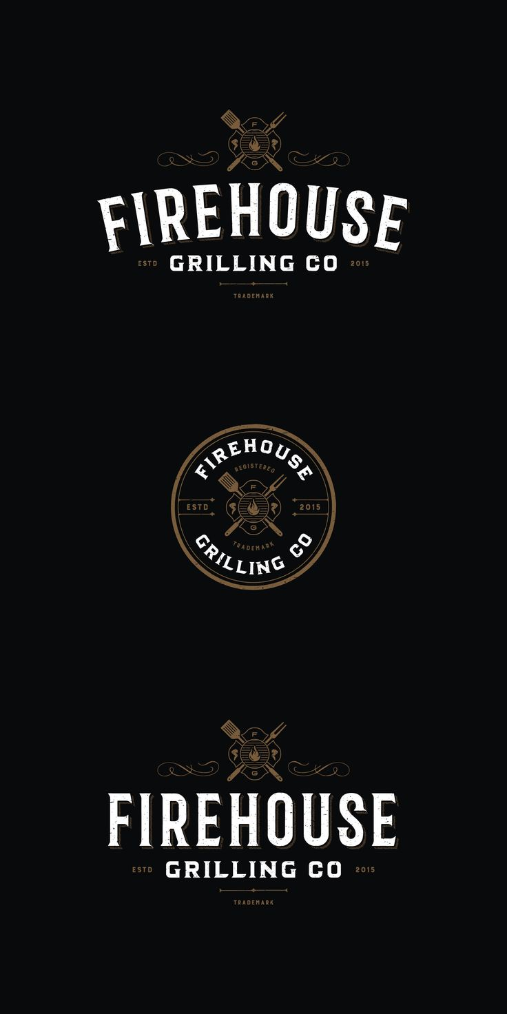 Designs | Create a lasting impression vintage/distressed LOGO for Firehouse Grilling Co. | Logo design contest