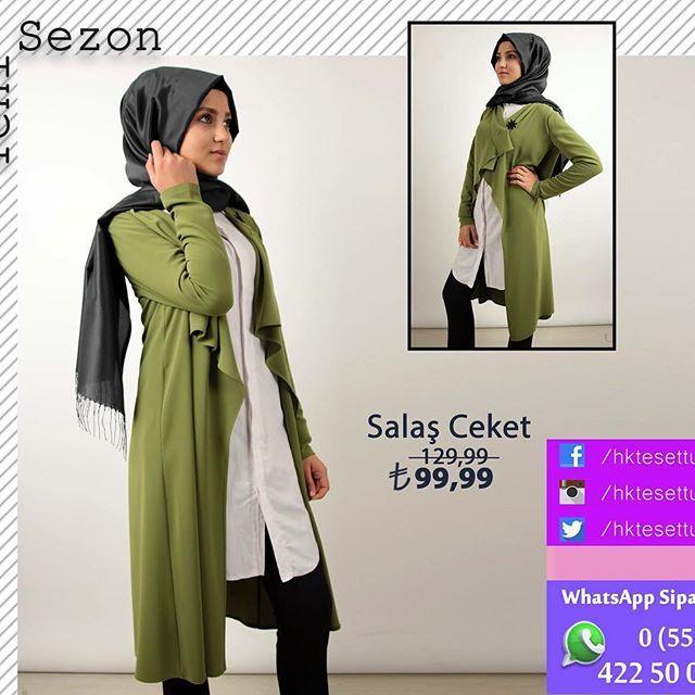 YENİ SEZON ... Salaş Ceket ₺99,99  Renk : Fuşya, Mavi, Yeşil, Siyah  Beden : 36-38-40-42  WhatsApp Sipariş İçin : 0552 422 50 00  #tesettur #tesettür #tesetturgiyim #kocaeli #fashion #tarz #like #türkiye #modatrend #mağaza #ilovekombin #türban #benimtarzim #istebenimstilim #hijab #trend #moda #kapıdaöde #kargobedava #bayan #kadın #müsterimemnuniyeti #güvenlialisveris #indirim #hktesettur #kombin #bluz #yelek #tunik #ceket