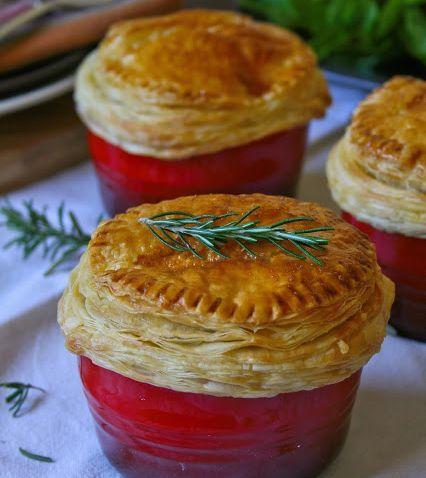 Creamy Chicken and Mushroom Pot Pies recipe
