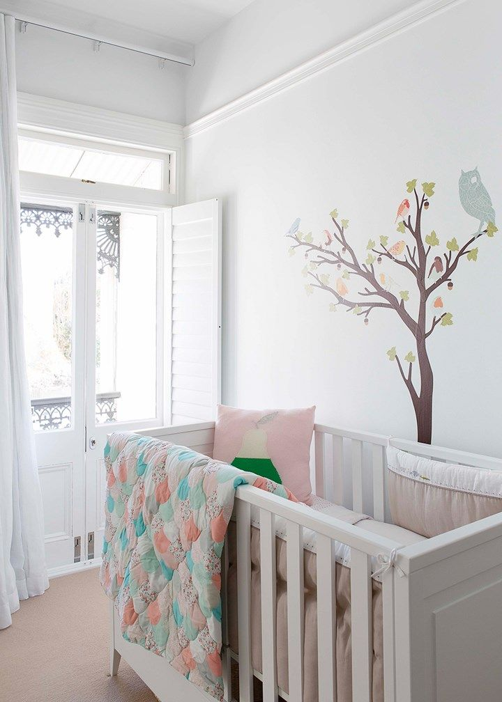 Baby's room with mural on wall | Home Beautiful Magazine Australia