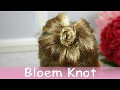 Hoe maak je een bloem knot in haar - YouTube