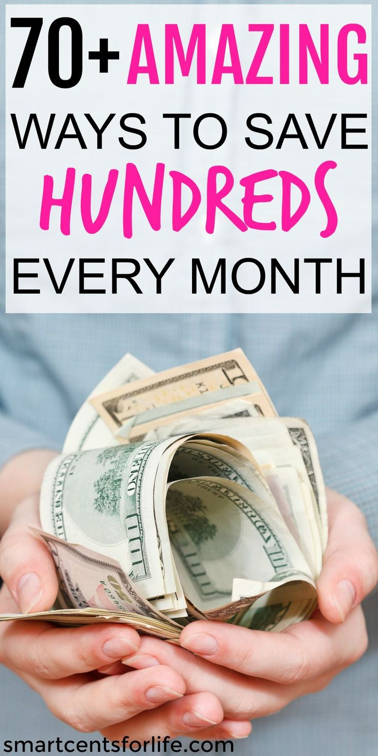 This list contains over 70 money saving tips to help you save hundreds every month. Even if you live paycheck to paycheck learn how to save money on almost everything. You can get the most out of your money even if you live on a low income. Save money each week or month and use it for a downpayment on a house, college education, Christmas presents, for a dream vacation or anything you want! Budgeting | Frugal Living Tips | Money Challenge | Getting out of debt | How To Save Money