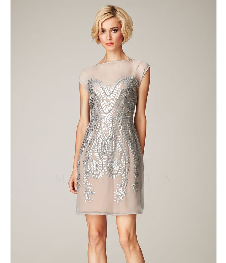Best 1920s prom dresses great gatsby style gowns more for Short beaded wedding dress