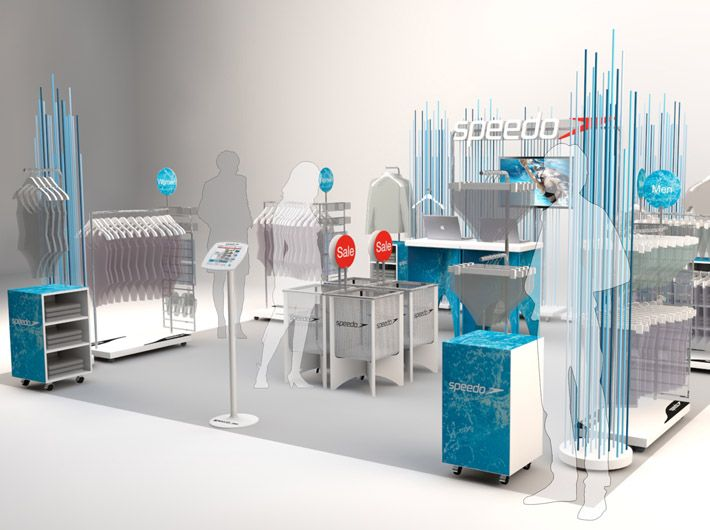 Material representative of the product the one off for Retail design agency london