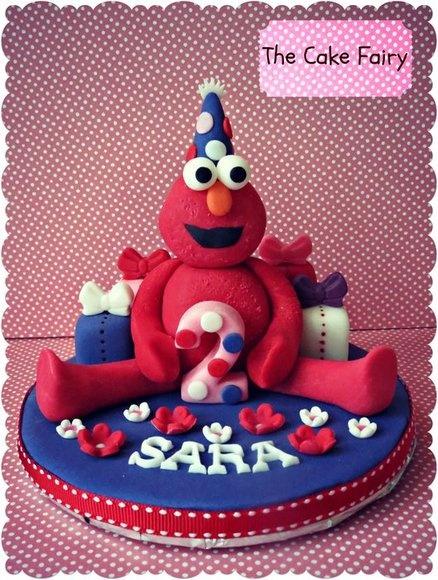 Girly Elmo! - by MyCakeFairyDotCom @ CakesDecor.com - cake ...