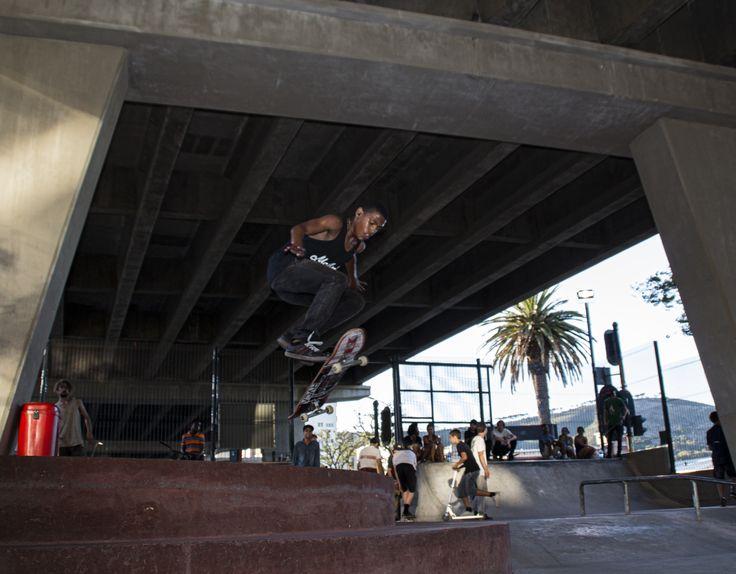 Filming our boy Skater Jesse De Lora , at Gardens Park . #capetown