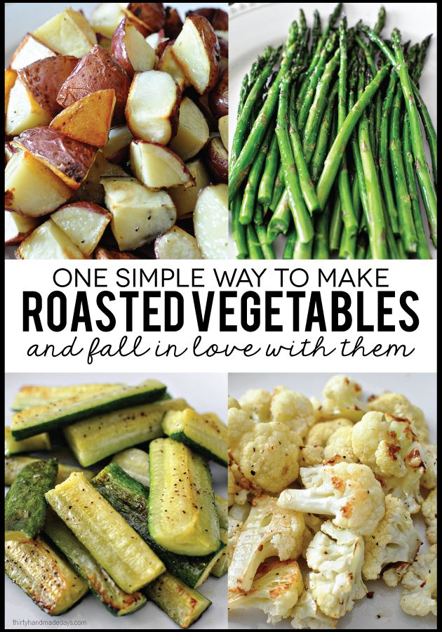 One easy way to make roasted vegetables and fall in love with them! | Eat healthy with this tips for roasting vegetables.