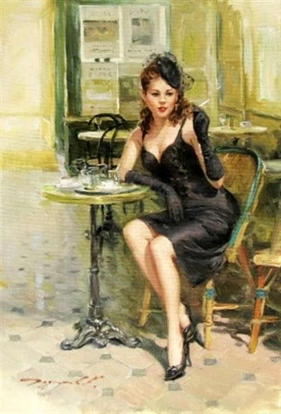Au Café Parisien By KonstantinRazumov