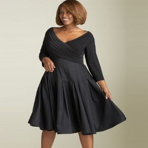 Plus Size Fashion for Women | Cocktail Dress For Plus Size Women - Fashion Trends In Plus Size ... would love this in any other colour..... like yellow....