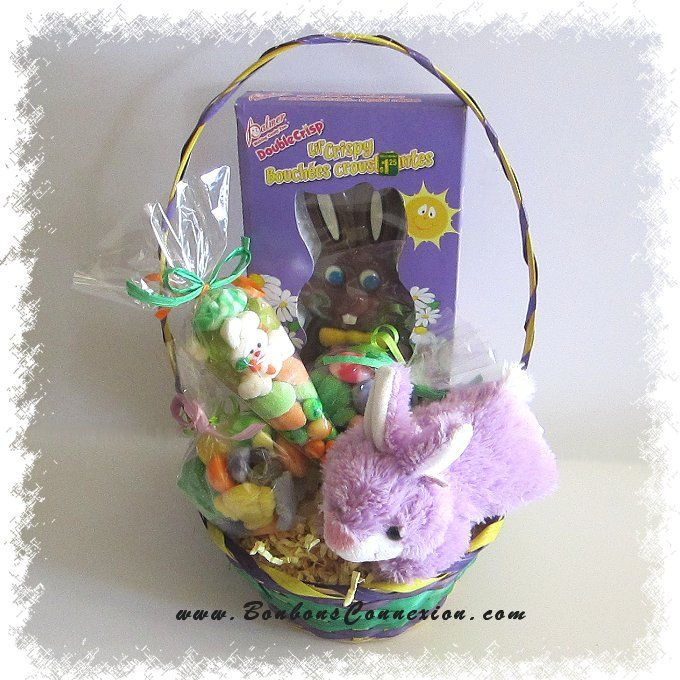 76 best easter baskets cadeaux pques images on pinterest panier cadeau coquin de pques easter candy gift basket negle Image collections