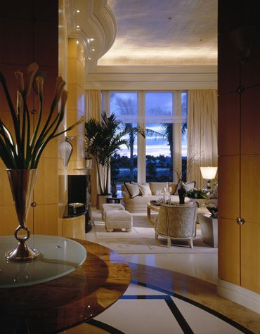 Serene tropical Living Room - Alene Workman