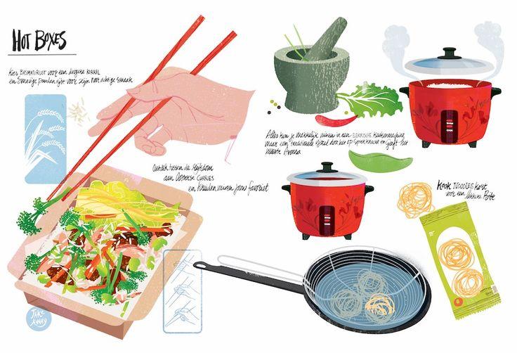 #foodillustration#asian#studiogarcia#hotbox