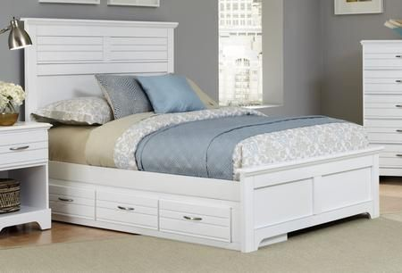 Platinum Collection 517830-3-519300-518330 Twin Size Storage Bed with Panel Headboard & Footboard
