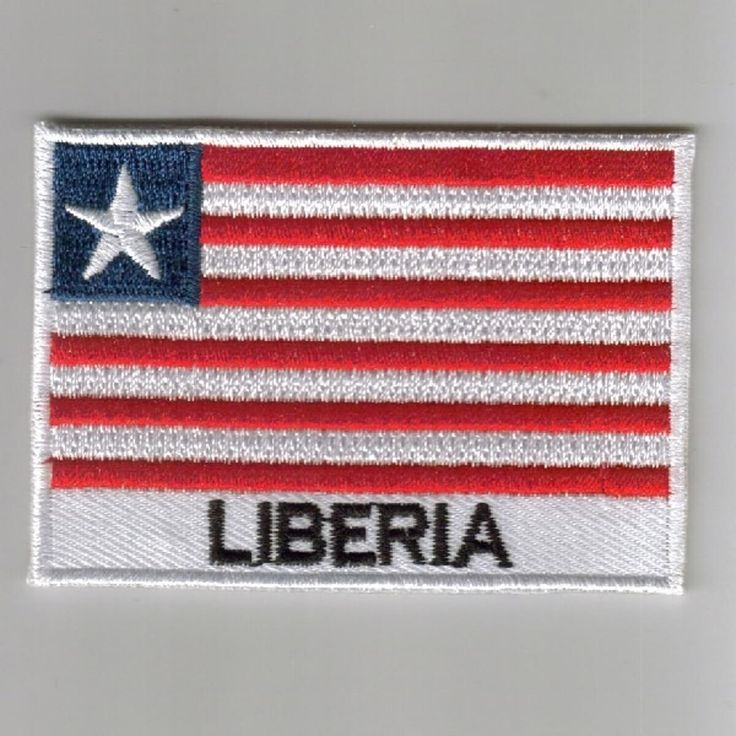 FLAG PATCH PATCHES Liberia IRON ON COUNTRY EMBROIDERED WORLD FLAG