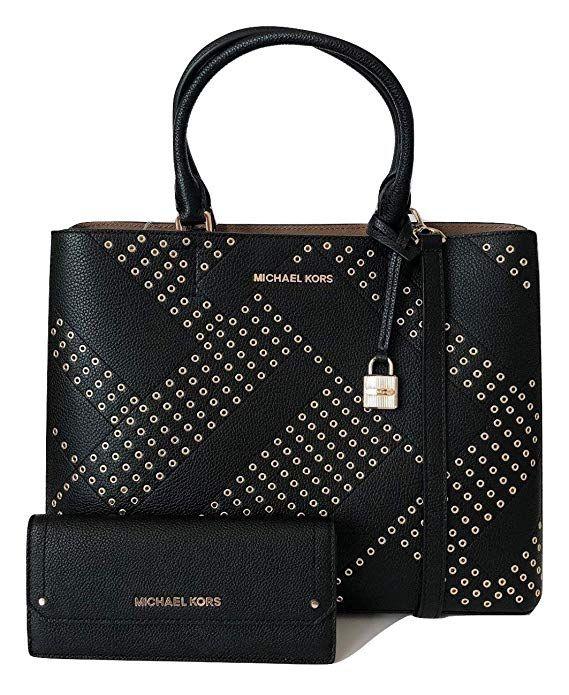 8cb7c01e3e4f MICHAEL Michael Kors Adele Large North South Tote bundled with Michael Kors  Hayes Flat Wallet #Michael Kors #handbag #wallet #women's gift