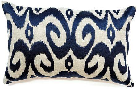 Ikat Navy Cushion