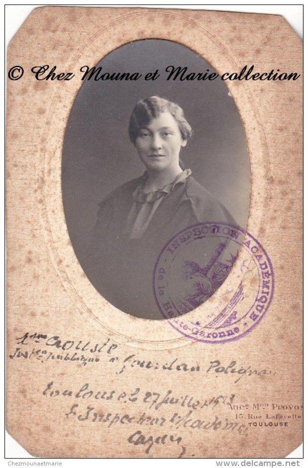 1923 - GOURDAN POLIGNAN - INSTITUTRICE PUBLIQUE CROUSTE - HAUTE GARONNE - TAMPON INSPECTION ACADEMIQUE…