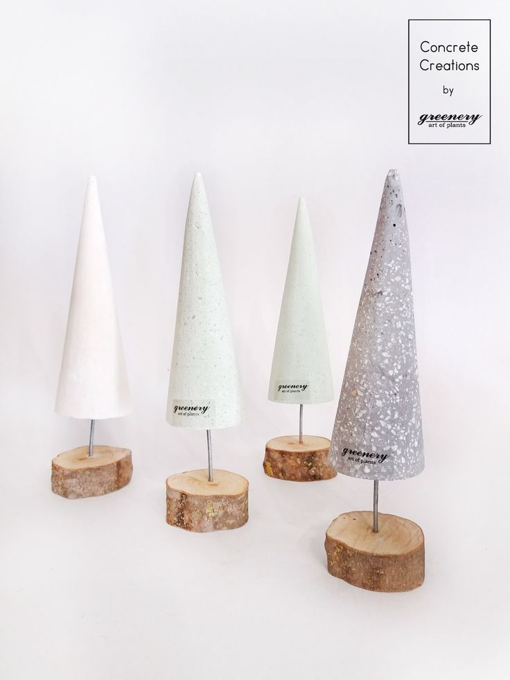 Complete your Christmas decoration with concrete trees! #greenery #plants #concrete #christmas #decoration #greece
