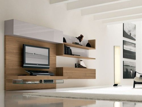 Minimalist entertainment console Favorite Places and Spaces