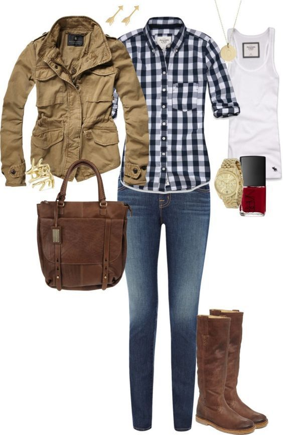 2017 WOMEN'S FASHION TRENDS! Ask your STITCH FIX stylist for items like this today. Click the pic, fill out your style profile to get items delivered to your door. $20 styling fee goes towards ANY ITEM YOU KEEP! Fashion at your door! #sponsored great fall outfit. gingham plaid button up