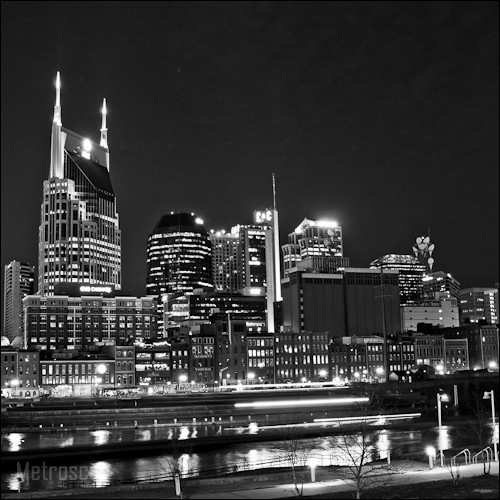 The Nashville Skyline on the Banks of the Cumberland River