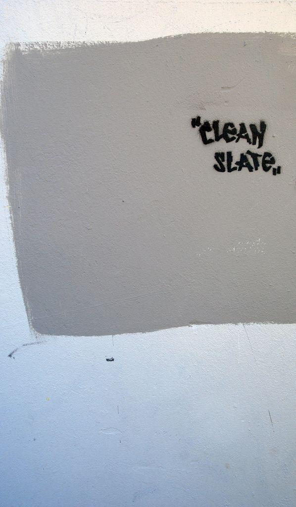 Clean slate graffiti