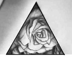 triangle rose tattoo tattoos pinterest triangles search and tattoos and body art. Black Bedroom Furniture Sets. Home Design Ideas